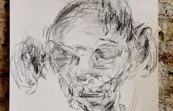 Blind selfportrait Frans Gentils